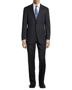 Hickey Freeman - Lindsey Two-Piece Micro-Stripe Suit