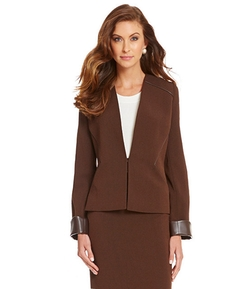 Preston & York - Evie Textured Heather Crepe Jacket