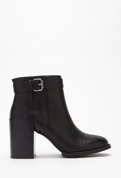 Forever 21 - Stacked Heel Buckled Booties