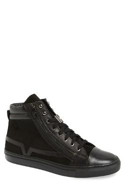 Versace  - Collection Suede & Leather High Top Sneaker