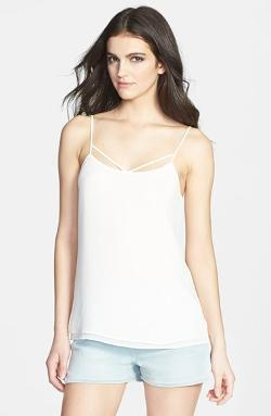 Tildon - Strap Detail Layered Woven Camisole