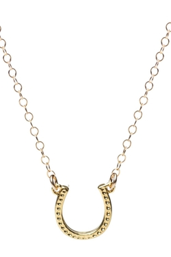 Amanda Deer Jewelry - Gold Horseshoe Necklace
