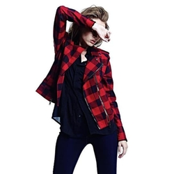 Hudson Jeans - Tundra Plaid Cynic Moto Jacket