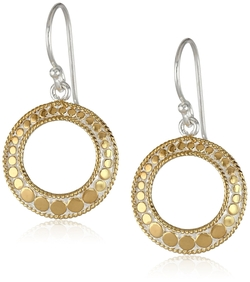 Anna Beck Designs - Gold Plated Open Circle Drop Earrings