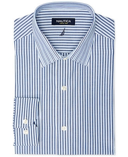 Nautica - Blue Stripe Dress Shirt