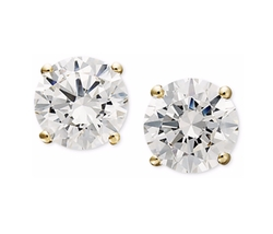 Arabella - Swarovski Zirconia Round Stud Earrings