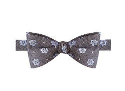 Countess Mara - Floral Denim Tie