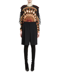 Givenchy - Button-Front Peacock-Print Blouse