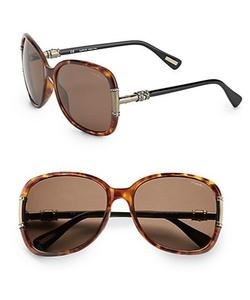 Lanvin  - Oversized Round Glitz Sunglasses