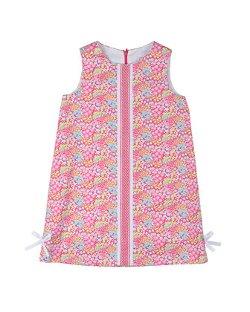 Florence Eiseman -  Floral Pique Shift Dress