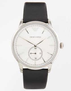 Emporio Armani - Leather Strap Watch