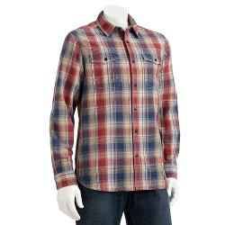 DOCKERS - Plaid Casual Button-Down Shirt