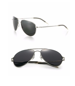 Oliver Peoples - Benedict Graphite Aviator Sunglasses
