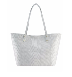 GiGi New York - Taylor Mini Python-Embossed Tote Bag