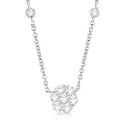 Allurez - Floral Diamonds Necklace