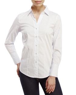 English Laundry - Split Neck Striped Shirt
