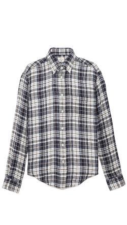 Hartford  - Woven Linen Sport Shirt
