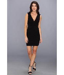 BCBGMAXAZRIA  - Edesa V-Neck Shirred Cocktail Dress