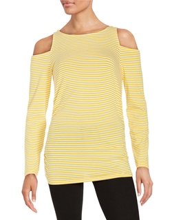 Michael Michael Kors - Cold-Shoulder Striped Top