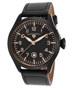 Swiss Legend - Pioneer Black Genuine Leather Watch