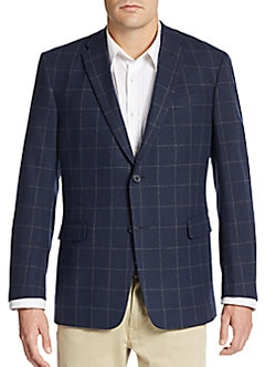 Tommy Hilfiger  - Regular-Fit Windowpane Check Jacket