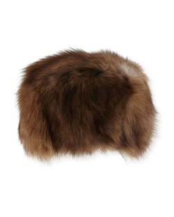Adrienne Landau - Fox Fur Hat, Brown