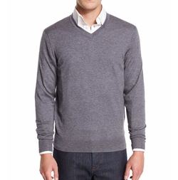 Neiman Marcus - Cashmere-Silk V-Neck Sweater