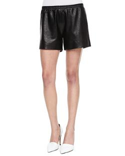 Vince  - Perforated Leather Boxer Shorts
