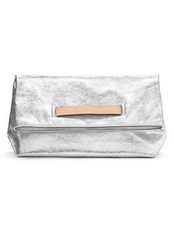 Banana Republic - Silver Foldover Clutch Bag