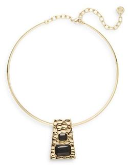 R. J. Graziano  - Geometric Pendant Collar Necklace