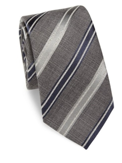 Saks Fifth Avenue Collection  - Textured Stripe Tie