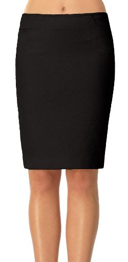 LEON MAX - Textured Jacquard Pencil Skirt