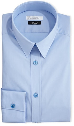 Versace - Button-Front Solid Dress Shirt