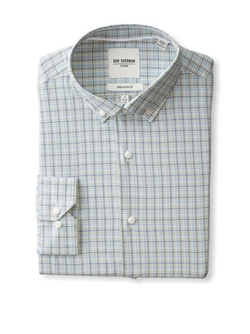 Ben Sherman  - Windowpane Check Dress Shirt