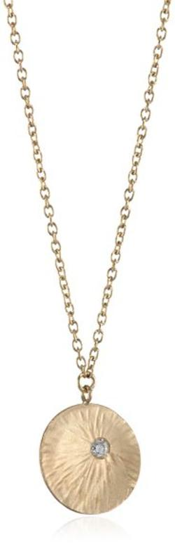 "Shaesby -  ""Cypress"" Yellow Gold Small Sunburst Necklace"