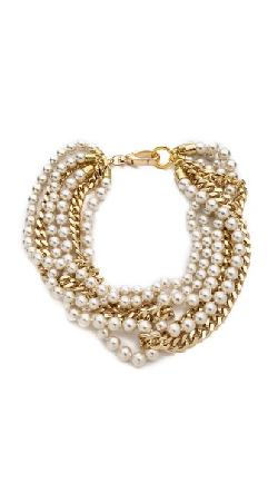 Fallon Jewelry  - Swarovski Pearl Layered Necklace