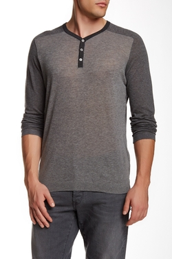 Star USA By John Varvatos  - Colorblock Henley Tee