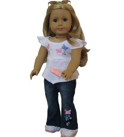 Doll Club of America - Jeans Set For American Girl Doll Clothes