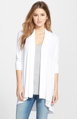 Bobeau - High/Low Long Cardigan