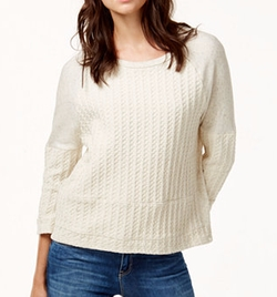 Lucky Brand - Knit Paneled Sweatshirt