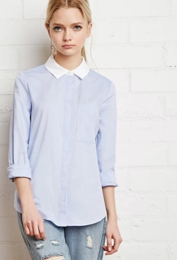 Forever 21 - Contrast Collar Shirt