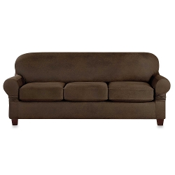 Sure Fit - Vintage Leather Cushion Sofa