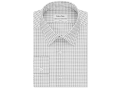 Calvin Klein  - Slim-Fit Black-and-White Check Dress Shirt