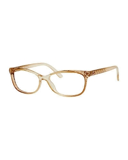 Gucci	  - Diamond-Patterned Transparent Fashion Glasses