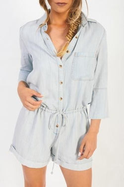 Earthy Chic - Button Down Romper