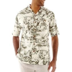 Island Shores - Short-Sleeve Silk Floral Shirt