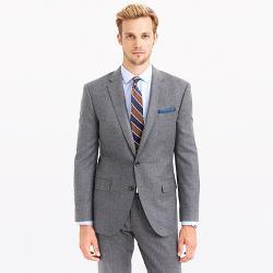 Crosby  - Suit Jacket in Heathered Italian Wool Flannel