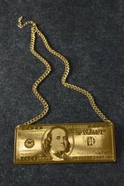 Bonanza - $100 Bill Statement Necklace