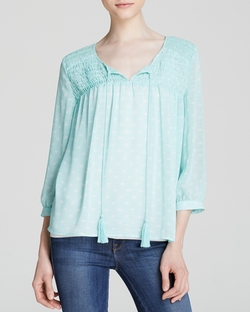 Two By Vince Camuto - Pintuck Peasant Blouse