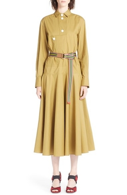 Marni - Belted Cotton Poplin Shirtdress